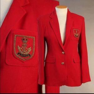 Lauren Ralph Lauren Vintage Red Blazer